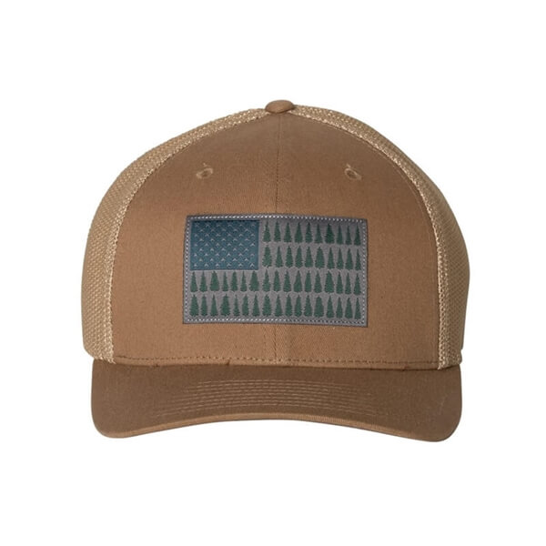 Men's Columbia PFG Tree Flag Mesh Flexfit Cap