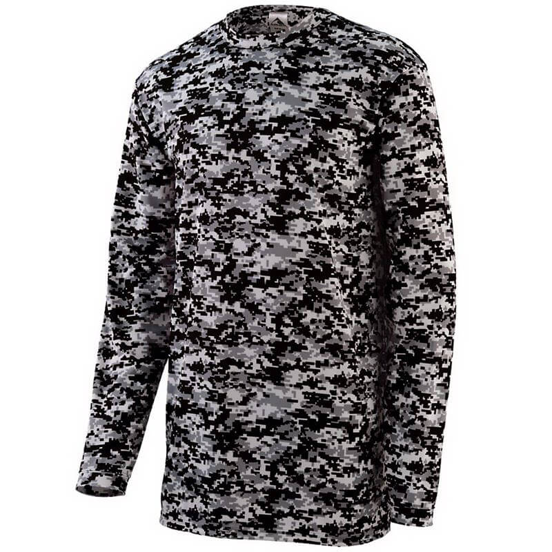 Augusta Men's Digi Camo Wicking Long Sleeve T-Shirt