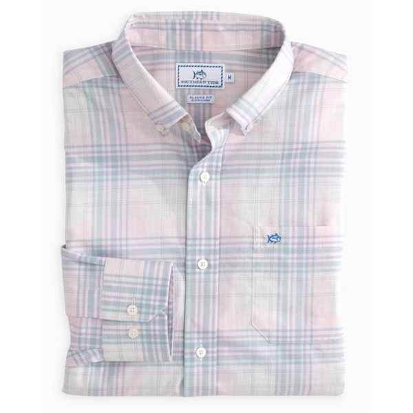 Southern Tide Men's Gibbes Island Plaid Sprtshrt