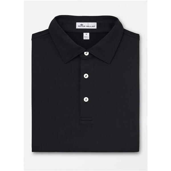 Peter Millar Men's Solid Stretch Jersey Polo Self Collar