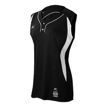 Mizuno Girl's Elite 2-Button Game Sleeveless Jersey