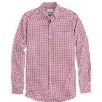 Southern Tide Men's Gameday Gingham Intercoastal Performance Sportshirt
