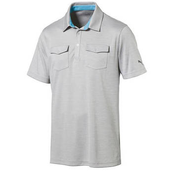 PUMA Men's Tailored Double Pocket Golf Polo