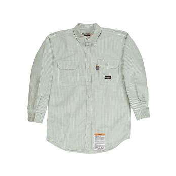 Men's Flame-Resistant Down Plaid Work Shirt