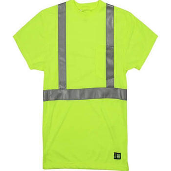 Men's Hi-Vis Class 2 Performance Pocket T-Shirt