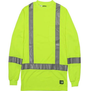 Men's Hi-Vis Class 3 Performance Long Sleeve Pocket T-Shirt