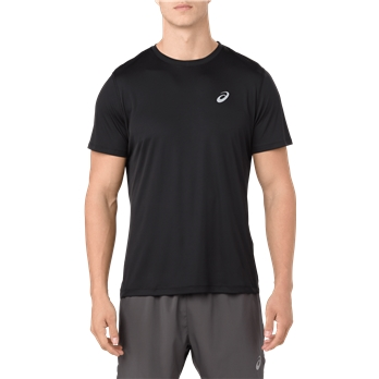 ASICS Men's Silver Short Sleeve T Shirt
