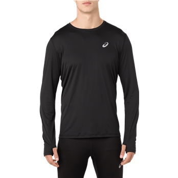 ASICS Men's Silver Long Sleeve T Shirt