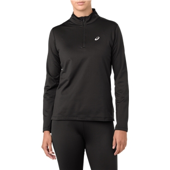 ASICS Women's Silver Long Sleeve 1/4 Zip Pullover