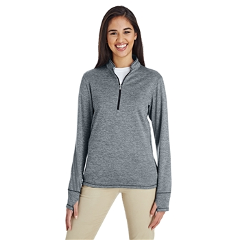 Adidas Women's Golf Brushed Terry Heather Quarter-Zip