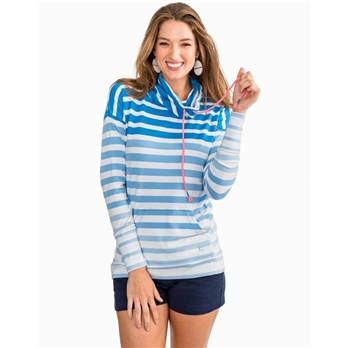 Southern Tide W Striped Scuba Pullover