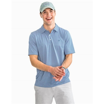 Southern Tide Men's SS TryallStripe Perform Polo
