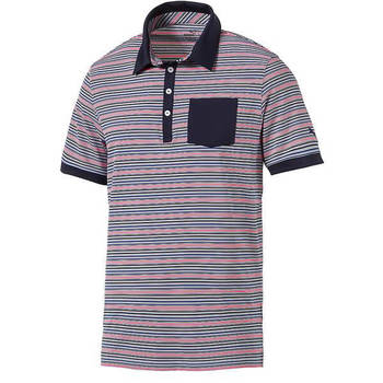 PUMA Men's Tailored Pocket Stripe Golf Polo