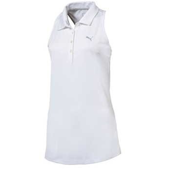 PUMA Women's Racerback Sleeveless Golf Polo