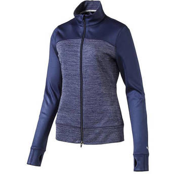 PUMA Women's Colorblock Full Zip Golf Jacket