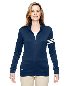 Adidas Women's Golf Climalite 3-Stripes Full-Zip