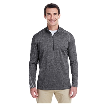adidas Golf Men's Brushed Terry Heather Quarter-Zip