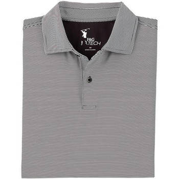 Fairway & Greene Men's Luxury Tech Mini Stripe Jersey Polo