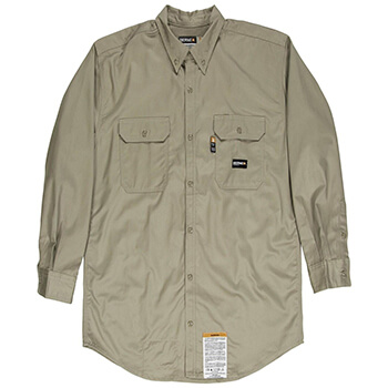 Men's Flame-Resistant Button-Down Work Shirt