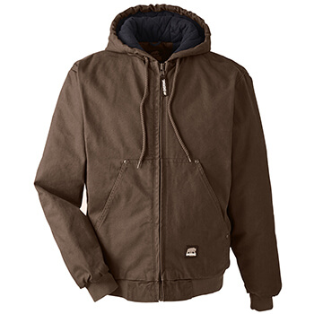 Men's Highland Washed Cotton Duck Hooded Jacket