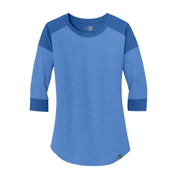 New Era ® Ladies Heritage Blend 3/4-Sleeve Baseball Raglan Tee