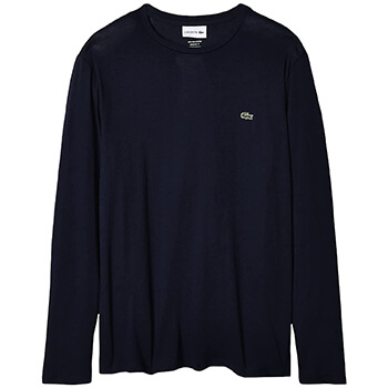 Lacoste Men's Long Sleeve Pima Crewneck T-Shirt