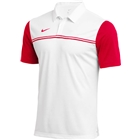 Nike Men's Dri Fit Block Polo - White/University Red