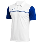 Nike Men's Dri Fit Block Polo - White/Game Royal