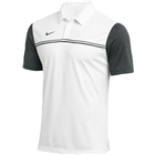 Nike Men's Dri Fit Block Polo - White/Anthracite