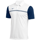 Nike Men's Dri Fit Block Polo - White/College Navy