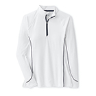 Peter Millar Women's Lightweight Sun Comfort 1/4 Zip - White
