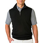 Fairway & Greene Men's Baruffa 1/4 Zip Windvest - Black