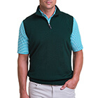 Fairway & Greene Men's Baruffa 1/4 Zip Windvest - Bottle