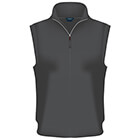 Fairway & Greene Men's Baruffa 1/4 Zip Windvest - Charcoal Heather