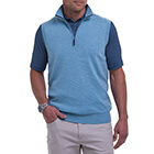 Fairway & Greene Men's Baruffa 1/4 Zip Windvest - Blue