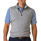 Fairway & Greene Men's Baruffa 1/4 Zip Windvest - Light Charcoal