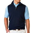 Fairway & Greene Men's Baruffa 1/4 Zip Windvest - Navy