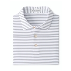 Peter Millar Men's Crafty Performance Polo - White/Navy