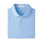 Peter Millar Men's Crafty Performance Polo - Cottage Blue/White