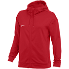 Nike Women's Therma Full-Zip Training Hoodie - Team Scarlet