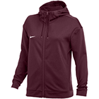 Nike Women's Therma Full-Zip Training Hoodie - Team Dark Maroon