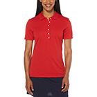 Callaway Golf Women's Ottoman Polo - Salsa Red