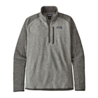 Patagonia Men's Better Sweater 1/4-Zip - Nickel W/ Forge Grey