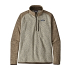 Patagonia Men's Better Sweater 1/4-Zip - Bleached Stone W/ Pale Khaki