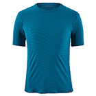 Patagonia Men's Capilene Cool Lightweight Shirt - Air Stripe: Balkan Blue