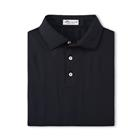 Peter Millar Men's Solid Stretch Mesh Self Collar - Black