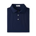 Peter Millar Men's Solid Stretch Mesh Self Collar - Navy