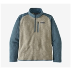 Patagonia Men's Better Sweater 1/4-Zip - Bleached Stone With Pigeon Blue