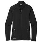 Eddie Bauer Women's Smooth Fleece Base Layer Full-Zip - Black