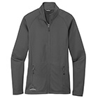 Eddie Bauer Women's Smooth Fleece Base Layer Full-Zip - Iron Gate